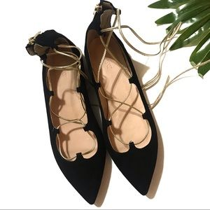 J. CREW | sz 8 NWOT suede pointed toe flats